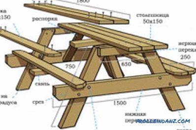 Table de jardin à faire soi-même en bois naturel